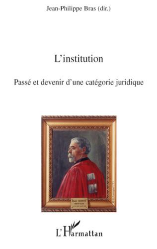 Couverture L'institution
