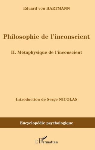 Couverture Philosophie de l'inconscient