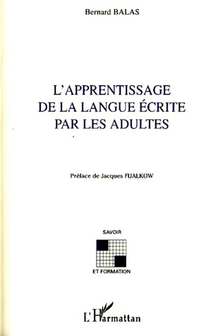 Couverture L'apprentissage de la langue écrite par les adultes