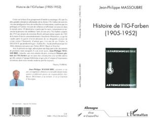 Couverture HISTOIRE DE L'IG-FARBEN 1905-1952