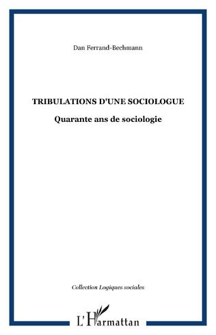 Couverture Tribulations d'une sociologue