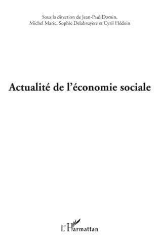 Couverture ACTUALITE DE L'ECONOMIE SOCIALE