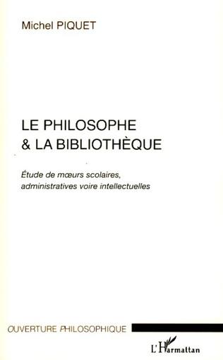 Couverture Le philosophe et la bibliothèque