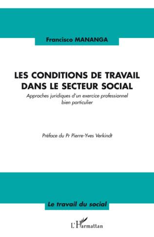 Couverture Les conditions de travail dans le secteur social