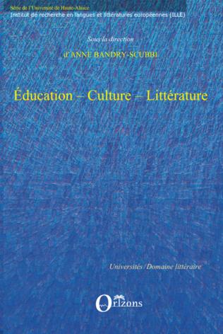 Couverture EDUCATION - CULTURE - LITTERATURE