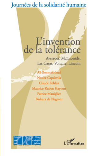 Couverture L'invention de la tolérance