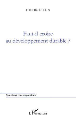 Couverture Faut-il croire au développement durable ?
