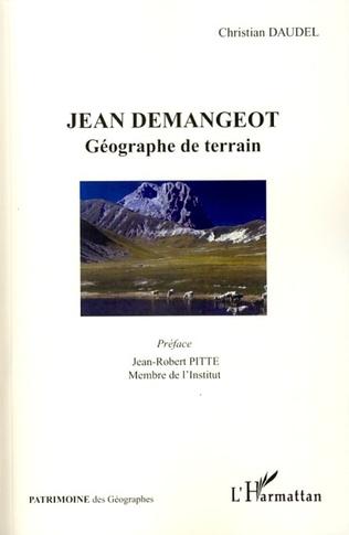 Couverture Jean Demangeot géographe de terrain