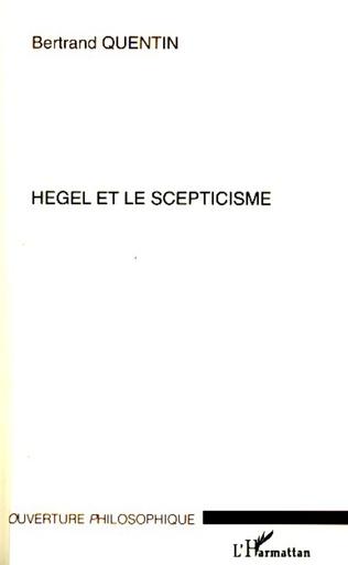 Couverture Hegel et le scepticisme