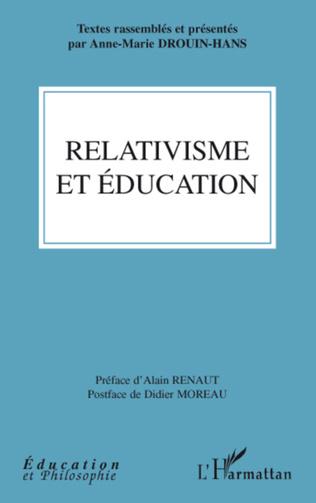 Couverture Relativisme et éducation