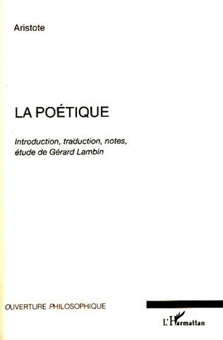 Couverture La poétique