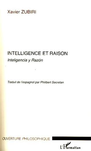 Couverture Intelligence et raison