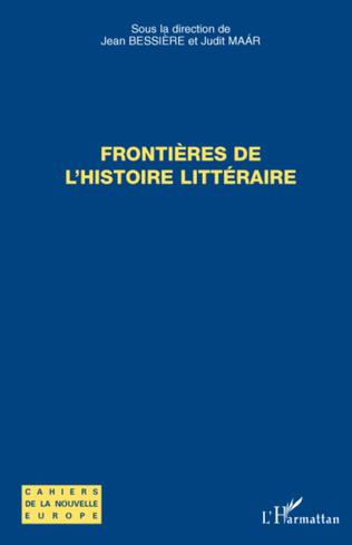 Couverture Frontières de l'histoire littéraire