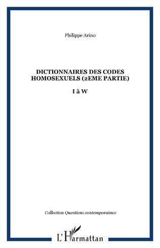 Couverture Dictionnaires des codes homosexuels (2eme partie)