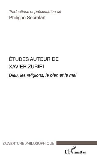 Couverture Etudes autour de Xavier Zubiri