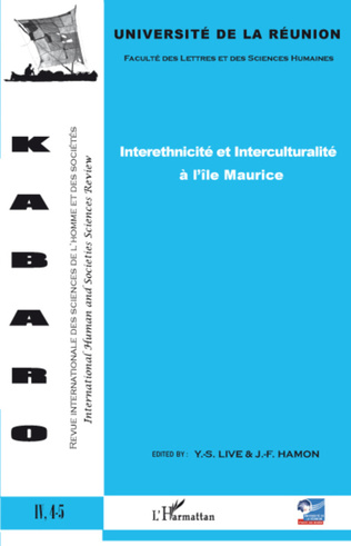 Couverture Interethnicité et Interculturalité à l'île Maurice