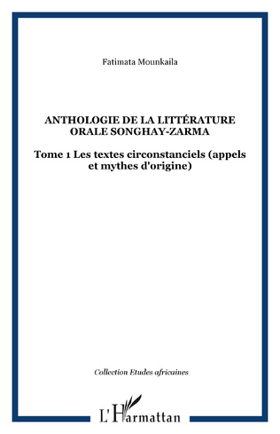 Couverture Anthologie de la littérature orale songhay-zarma
