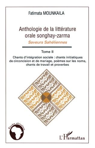 Couverture Anthologie de la littérature orale songhay-zarma