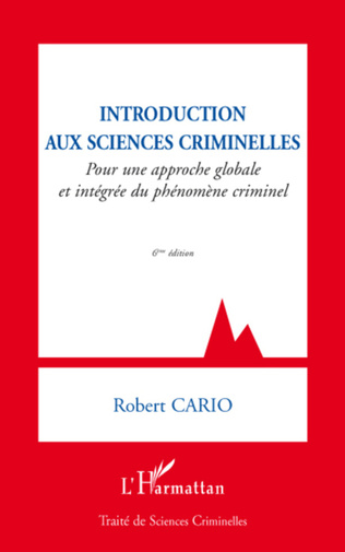 Couverture Introduction aux sciences criminelles