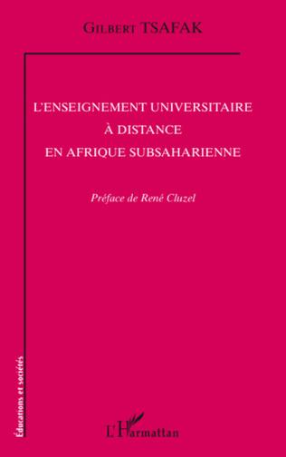 Couverture L'enseignement universitaire à distance en Afrique subsaharienne
