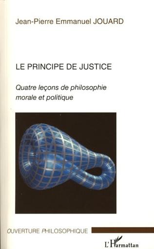 Couverture Le principe de justice