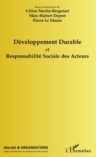 Couverture Développement durable et responsabilité sociale des acteurs