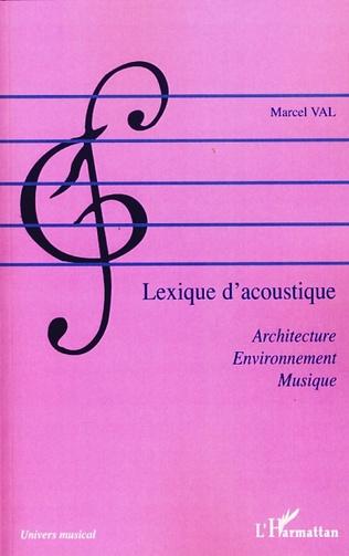 Couverture Lexique d'acoustique