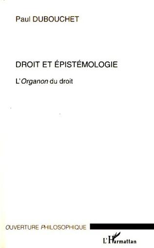 Couverture Droit et épistémologie