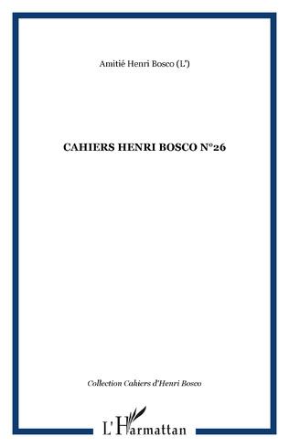 Couverture CAHIERS HENRI BOSCO N°26