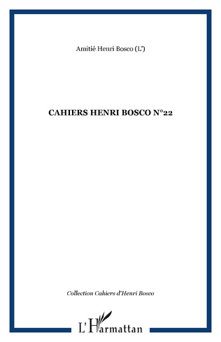 Couverture CAHIERS HENRI BOSCO N°22