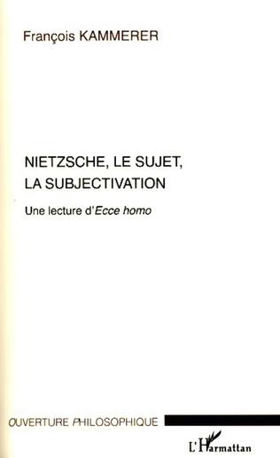 Couverture Nietzsche, le sujet, la subjectivation