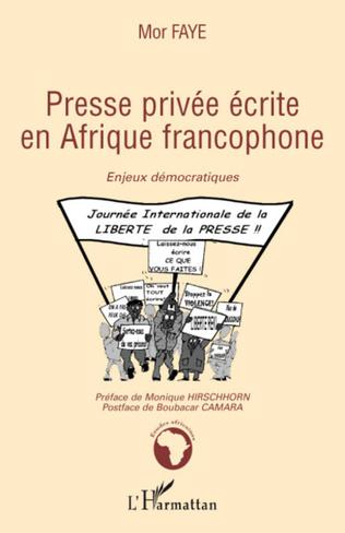 Couverture Presse privée écrite en Afrique francophone