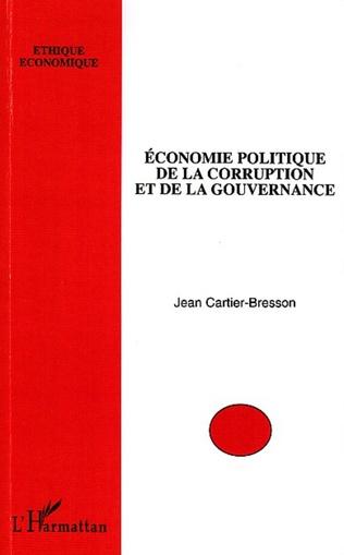Couverture Economie politique de la corruption et de la gouvernance