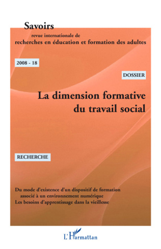 Couverture La dimension formative du travail social