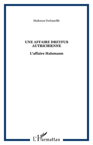 Couverture Une affaire Dreyfus autrichienne