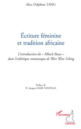 Couverture Ecriture féminine et tradition africaine
