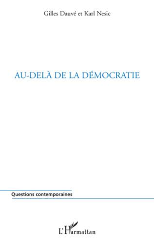 Couverture Au-delà de la démocratie