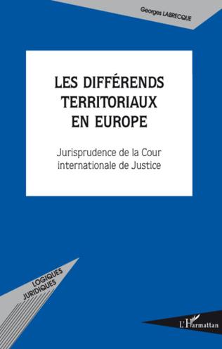 Couverture Les différends territoriaux en Europe