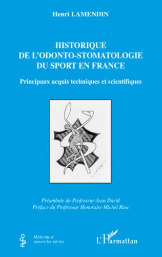Couverture L'historique de l'odonto-stomatologie du sport en France