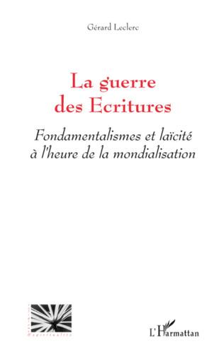 Couverture La guerre des Ecritures