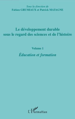 Couverture Le développement durable sous le regard des sciences et de l'histoire