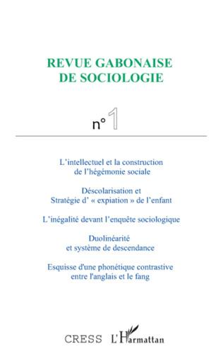 Couverture Revue gabonaise de sociologie