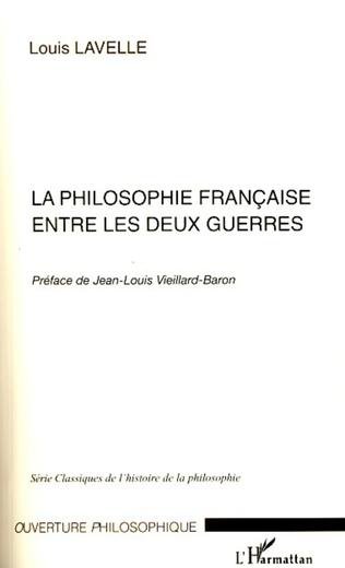 Couverture La philosophie française entre les deux guerres