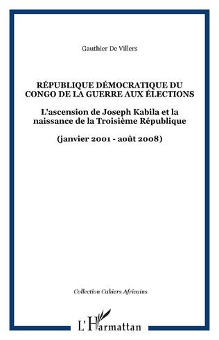 Couverture République démocratique du Congo De la guerre aux élections