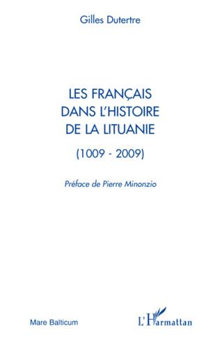 Couverture Les Français dans l'histoire de la Lituanie