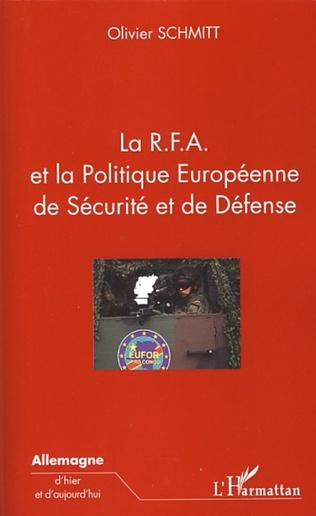 Couverture La R.F.A. et la Politique Européenne de Sécurité et de Défense