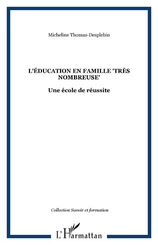 Couverture L'éducation en famille