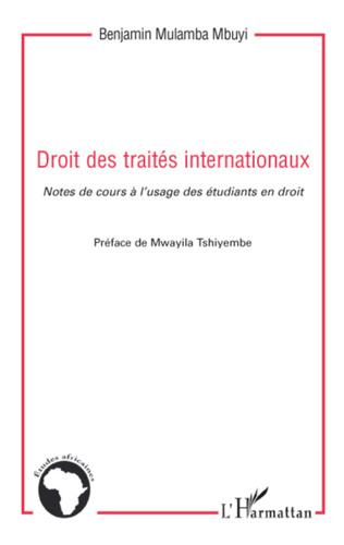 Couverture Droit des traités internationaux