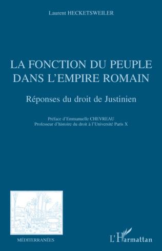 Couverture La fonction du peuple dans l'Empire romain