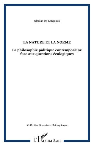 Couverture La nature et la norme